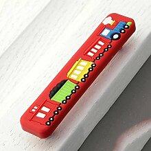 Soft Plastic Cartoons Safe drawer Schrank Tür mit Kindern Zimmer kleinen Kindergarten 2 Stk., rot-Loch 96 mm