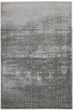 Soft Shaggy Teppich Imperial - 4 tolle Farben mit raffiniertem Melange-Effekt | hochwertige & strapazierfähige Qualität | Fußbodenheizung geeignet | für Wohnzimmer Schlafzimmer Kinderzimmer und Büro, Farbe:Silber, Größe:160 x 230 cm