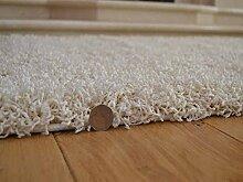 Soft Touch Shaggy-Teppich, 5cm dick, dichter Hochflor, elfenbeinfarben / cremefarben, In 7 verschiedenen Größen erhältlich, Weiß, 120 x 170 cm