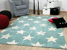 Soft Touch Velour Designer Teppich Canvas Sterne