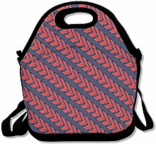 Softball Lace Line Lunch Bag Tote Handbag Lunchbox