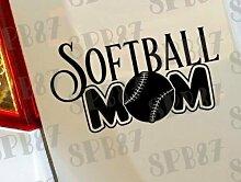 Softball Mom Baseball Ball Sport Hobby Mädchen Funny Car Bumper Window Funny Vinyl Van Laptop Love Herz Decor Home Live Kids Funny Art Wand Aufkleber Aufkleber Motorräder