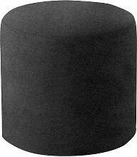 Softline Drum Hocker / Beistelltisch M, schwarz Stoff Felt 636 H 40cm Ø 45cm