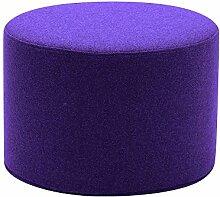 Softline Drum Hocker / Beistelltisch S, violett Stoff Felt 581 H 30cm Ø 45cm