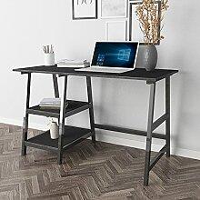 sogesfurniture Schreibtisch mit 2 Ablagen,