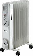 Sogo cal-ss-18209Elektrischer Öl-Radiator, 9Heizrippen, Weiß