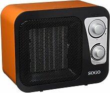 Sogo cal-ss-18285-r Heizlüfter PTC Design Radio, 1800W, Orange