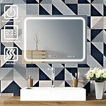 Sogoo Leuchtspiegel für Badezimmer, 24 W, 60 x 80