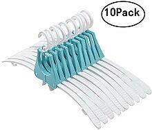 SOGREAT 10er Kleiderbügel Kleiderhaken Kunststoff