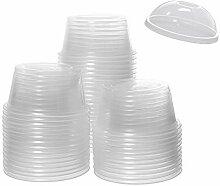 Sohapy 30 Stück transparente Kunststoffbecher