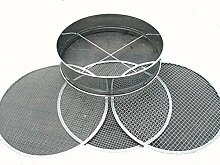 Soil Sieve Stainless Steel with 3 interchangable