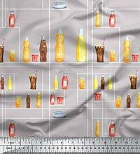 Soimoi Grau schwere Satin Stoff Flasche und Glas