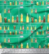 Soimoi Grun schwere Leinwand Stoff Flasche und