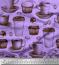 Soimoi Lila modaler Satin Stoff Cupcake, Glas &