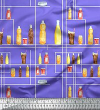 Soimoi Lila schwere Satin Stoff Flasche und Glas