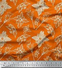 Soimoi Orange Baumwolle Ente Stoff Fingerhut &