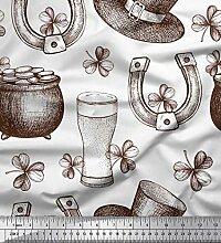 Soimoi Weiß Baumwolle Ente Stoff Magnet, Glas &