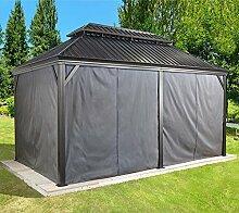 Sojag Aluminium Pavillon Messina Vorhänge Seitenteile Dunkelgrau/passend für Gartenlaube Messina 12x20