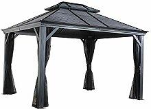 Sojag Stahl-Pavillon 4x5m Mykonos Garten-Pavillon