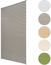 Sol Royal Plissee SolDecor P25 - 110x120 cm Grau - Klemm-Fix ohne Bohren - Plissee-Rollo Jalousie für Fenster & Türen