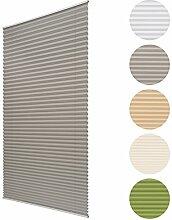 Sol Royal Plissee SolDecor P25 - 40x150 cm Grau - Klemm-Fix ohne Bohren - Plissee-Rollo Jalousie für Fenster & Türen