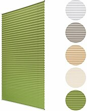 Sol Royal Plissee SolDecor P25 - 55x150 cm Grün - Klemm-Fix ohne Bohren - Plissee-Rollo Jalousie für Fenster & Türen