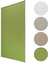 Sol Royal Plissee SolDecor P25 - 75x220 cm Grün - Klemm-Fix ohne Bohren - Plissee-Rollo Jalousie für Fenster & Türen