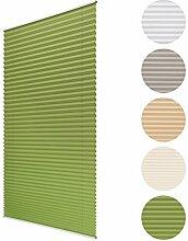 Sol Royal Plissee SolDecor P25 - 80x220 cm Grün - Klemm-Fix ohne Bohren - Plissee-Rollo Jalousie für Fenster & Türen