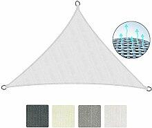 Sol Royal Sonnensegel SolVision 4,2x4,2x6m HDPE Sonnenschutz Segel atmungsaktiv Schatten Segel UV-Schutz Dreieck Weiß