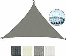 Sol Royal Sonnensegel SolVision 4,2x4,2x6m HDPE Sonnenschutz Segel atmungsaktiv Schatten Segel UV-Schutz Dreieck Grau