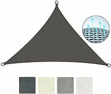 Sol Royal Sonnensegel SolVision 4,2x4,2x6m HDPE Sonnenschutz Segel atmungsaktiv Schattensegel UV-Schutz Dreieck Anthrazi