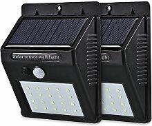 Solar-Außenleuchte, 20LED, Außenwandleuchte,