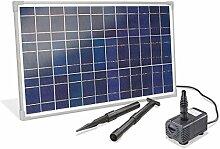 Solar Bachlaufset 25 Watt Solarmodul 1600 l/h