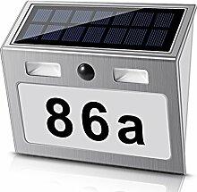 Solar beleuchtete Hausnummer mit 7 LEDs, ECHTPower