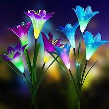 Solar-Blumen-Lichterkette für den Außenbereich,