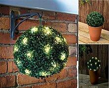 Solar Buchsbaumkugel mit LED Kette Buchsbaumkugeln