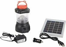 Solar Camping LED Taschenlampe Akku