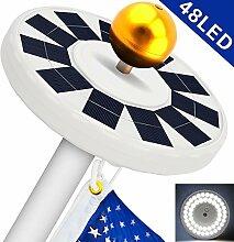 Solar Fahnenmast Licht, Fahnenstange Solar Licht