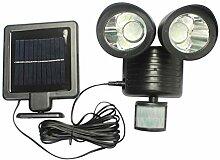 Solar Garden Light, 22 LED Zwei Köpfe