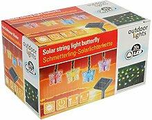 Solar Garten Lichterkette Schmetterling 20LED