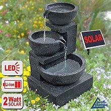 Solar Gartenbrunnen Brunnen Solarbrunnen