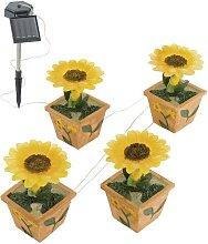 Solar- Gartenleuchte Sonnenblume 4xLED/0,015W