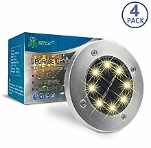 Solar Gartenleuchten 8 LED Solar Leuchte außen -