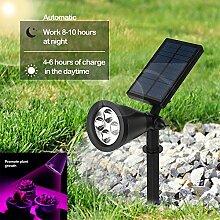Solar Grow Licht Außen Solar Strahler 16LED