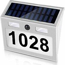 Solar Hausnummer Beleuchtete, Solarleuchtete mit