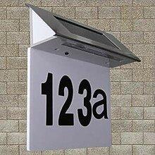 Solar Hausnummernleuchte Edelstahl LED Licht
