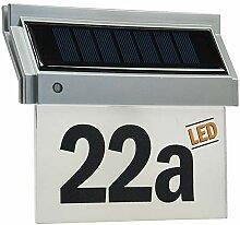 Solar Hausnummernleuchte mit LED, 18x16x5cm, incl.