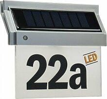 Solar Hausnummernleuchte mit LED 18x16x5cm incl.