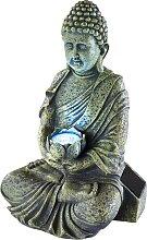 Solar-Lampe Buddha, grau