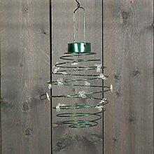 Solar Laterne Schmetterlingt zum hängen Stimmungsleuchte Party-Leuchte Dekoleuchte Dekoration für Garten, Balkon, Terrasse. (Grün)